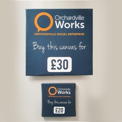 Canvas printing, available from Orchardville Works