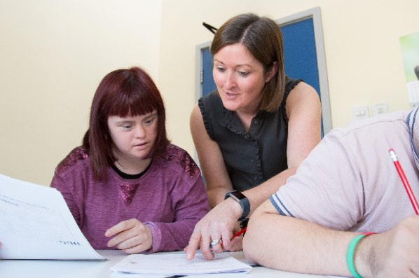 Employment Support Officer working with client in Belfast
